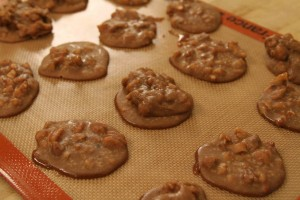 Ann Hollowell's Microwave Pralines made on The Cooking Lady