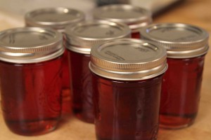 Ann Hollowell's Port Wine Jelly made on The Cooking Lady
